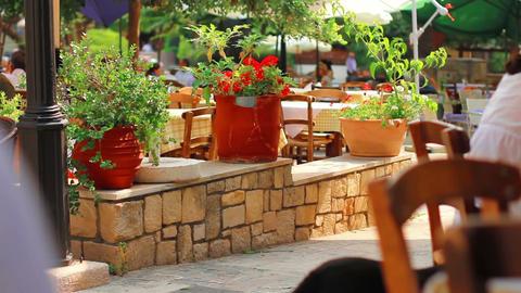 Urban seaside restaurant Stock Video Footage