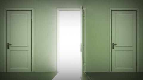 Doors opening and closing looped animation. Alpha  Animation