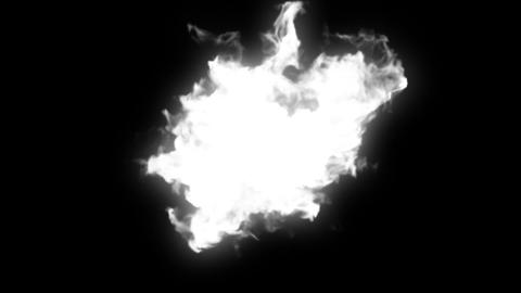 Explosion on black. 2 versions - with and without Stock Video Footage