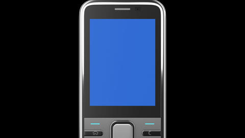 Highly Detailed Mobile Phone Turning On Black Back stock footage