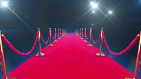 Red Carpet Event. Looped animation of a walk down  Animation