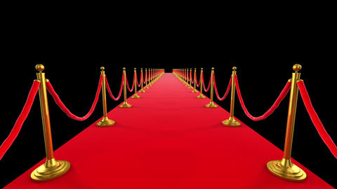 Red Carpet Event. Looped animation of a walk down Stock Video Footage