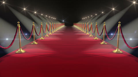 Red Carpet. Looped animation. HD 1080 Stock Video Footage