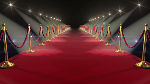 Red Carpet. Looped animation. HD 1080 Animation