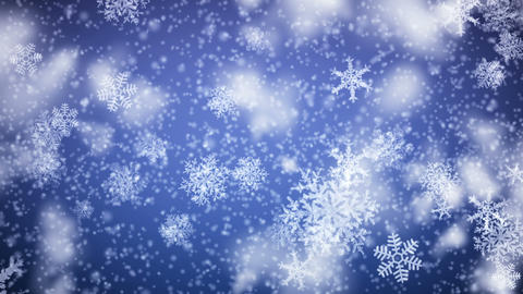 Snowflakes falling. HD 1080. Looped animation Animation