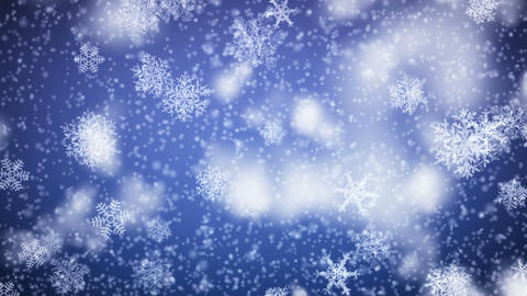 Snowflakes falling. HD 1080. Looped animation Stock Video Footage