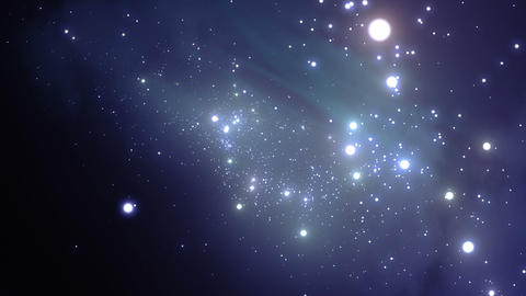Endless Stars, flying through space. Looped animat Stock Video Footage