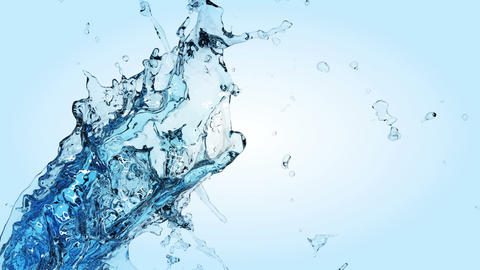 Beautiful Water splashes in slow motion Stock Video Footage