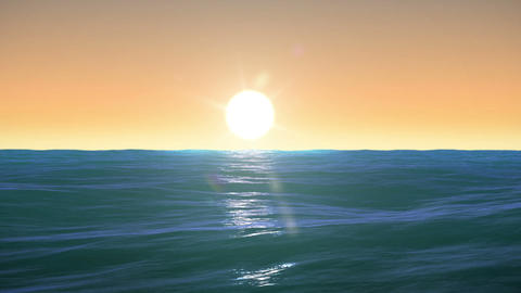 Beautiful Sunrise over the sea. Time Lapse. HD 108 Animation