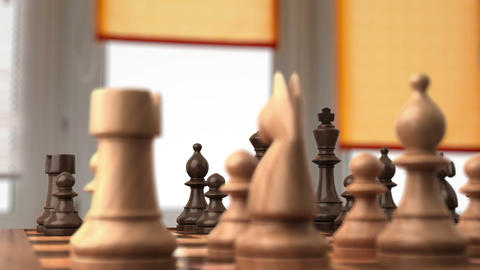 Chess before the fight Stock Video Footage