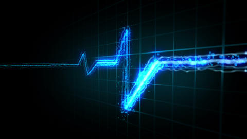 Heartbeat. 3 Colors stock footage