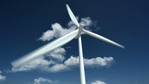 Wind Turbine. Close Up Stock Video Footage