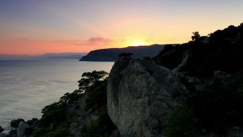 Timelapse sunset in the mountains. Noviy Svet, Cri Stock Video Footage