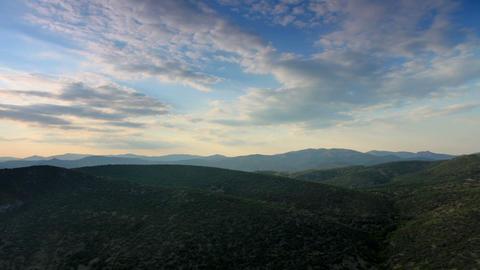 Cloudy sky over the mountains Sokol. Noviy Svet, C Footage