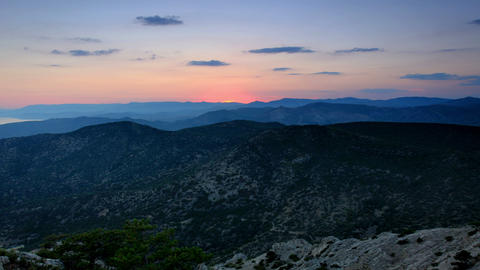 Timelapse sunset in the mountains Sokol. Noviy Sve Footage