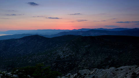 Timelapse sunset in the mountains Sokol. Noviy Sve Stock Video Footage