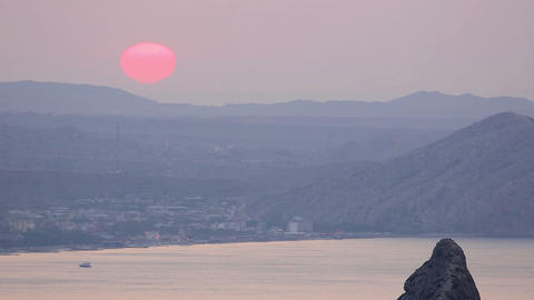 Timelapse sunrise in the mountains. Noviy Svet, Cr Stock Video Footage