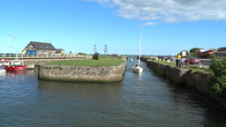 Courtown Harbour 1 Stock Video Footage