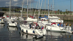 Courtown Harbour 3 Stock Video Footage