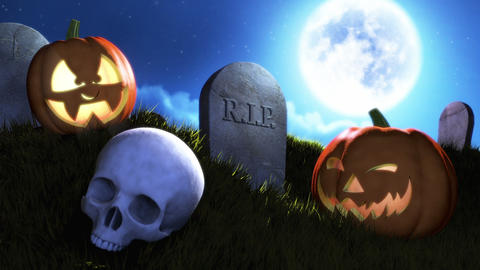 Happy Halloween Title stock footage