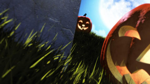 Happy Halloween Title Stock Video Footage