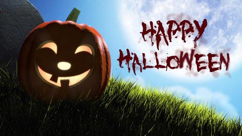 Happy Halloween Title Stock Video Footage