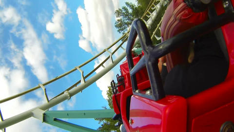Roller coaster. Attraction Footage