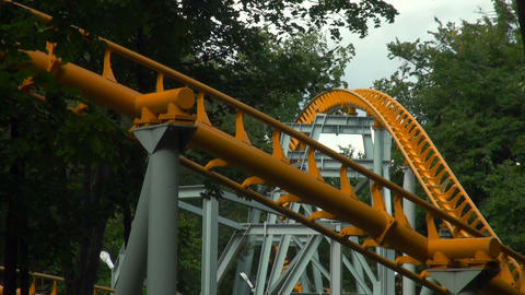 Roller coaster. Attraction Stock Video Footage