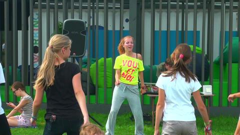 Animator, girl, dance Stock Video Footage