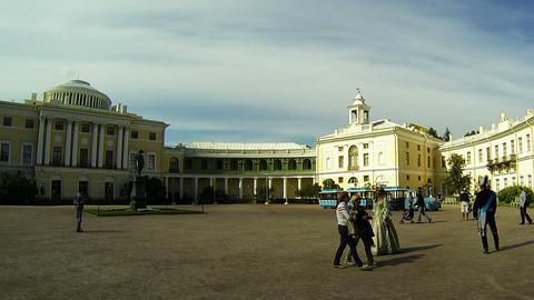 Palace in Pavlovsk Stock Video Footage