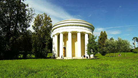 The temple of Friendship in Pavlovsk Footage