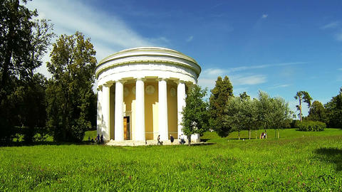 The temple of Friendship in Pavlovsk Stock Video Footage