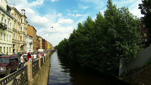 The embankment of the canal in St. Petersburg Stock Video Footage