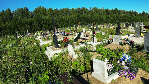Cemetery Stock Video Footage