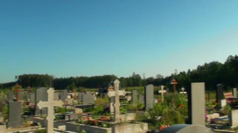 Cemetery Stock Video Footage