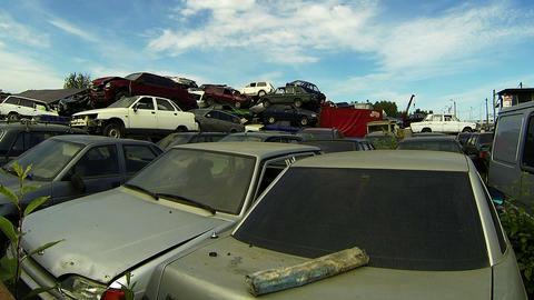 Cemetery machines, dump cars Footage