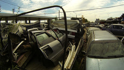 Cemetery machines, dump cars Footage