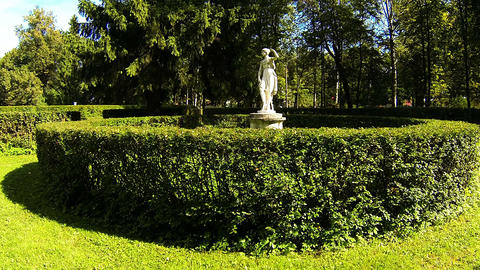 Sculpture in the Park of Pavlovsk Footage