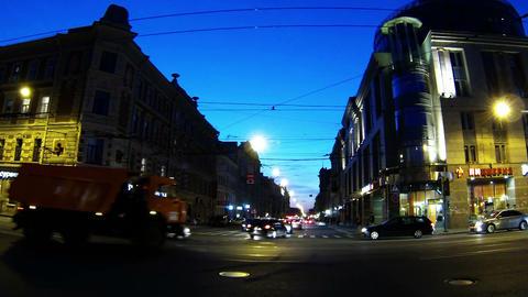 Night Avenue Stock Video Footage
