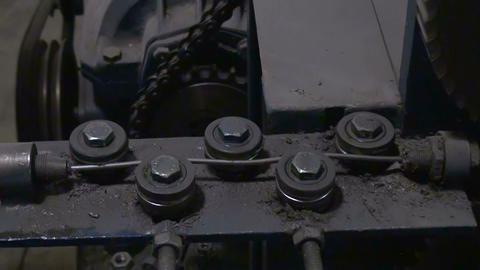 Machine for manufacture of wire Stock Video Footage