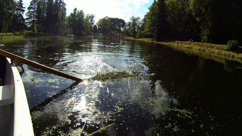 Paddle rowing water Stock Video Footage