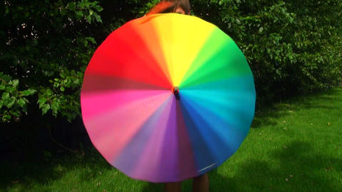 Colorful umbrella Stock Video Footage