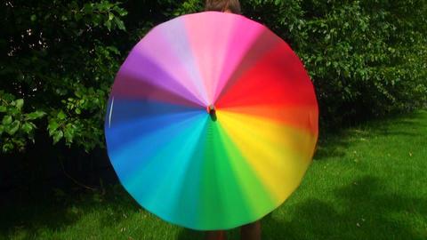 Colorful umbrella Footage