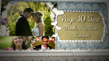 Wedding Scrapbook Project stock footage