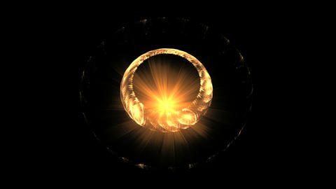 Golden Ring and Fire on Black Animation