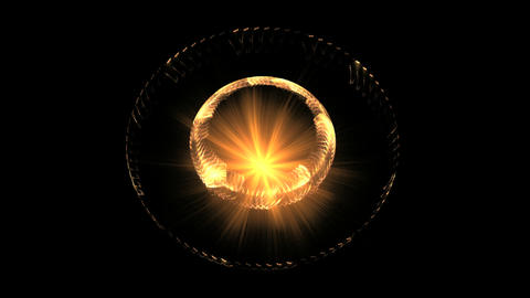 Golden Ring and Fire on Black Stock Video Footage