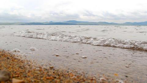 Itkul big lake in Khakassia reserve Khakasskiy Stock Video Footage