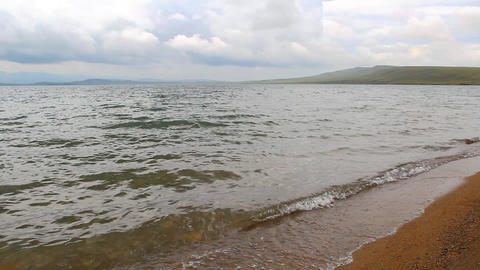 Itkul big lake in Khakassia reserve Khakasskiy Stock Video Footage