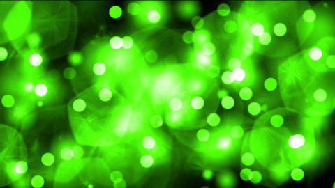 green light dots & particles,dancing circle,bubble... Stock Video Footage