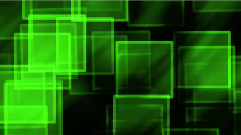 glass green square & mosaic debris background,flash light Animation